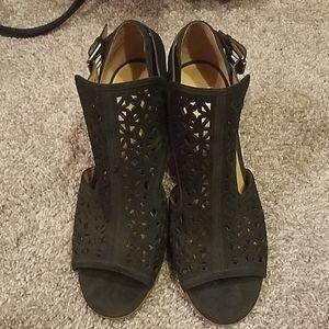 Black heels by Franco Sarto